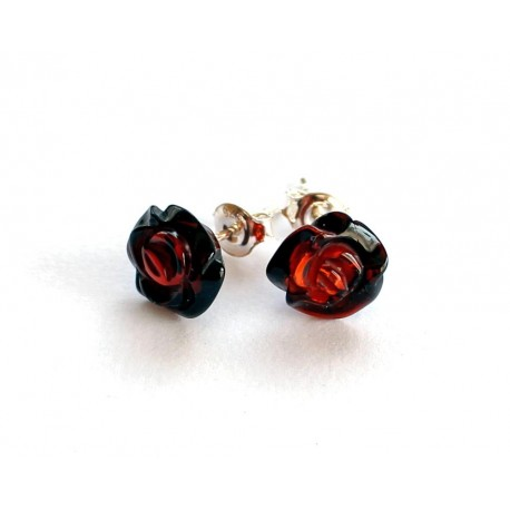 5 items Amber silver earrings