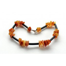 5 items (25cm) Amber necklaces for dogs