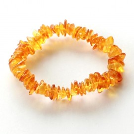 5 items Chips Amber Bracelets