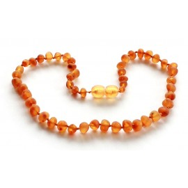Raw Baroque Amber Teething necklace