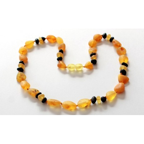 5 items Raw Amber Necklaces
