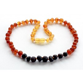 5 items Baroque Amber Necklaces