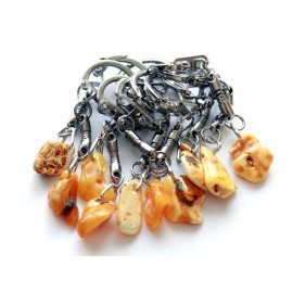 Amber key chains 10 items