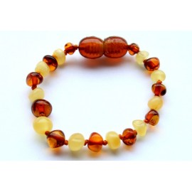 10 items Baroque Amber Teething bracelets