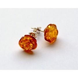 Amber silver earring s4w