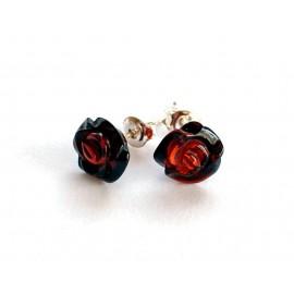 Amber silver earring s6w
