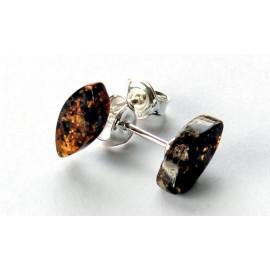 Silver Amber earrings