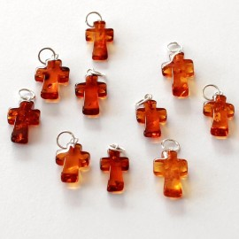 Amber pendants 10 items