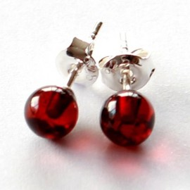 Amber silver earring s17w