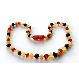 Raw Baroque Amber Teething necklace BR24