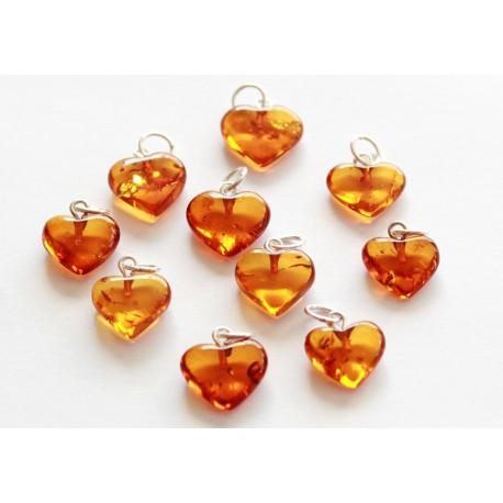 Amber pendants 10 items
