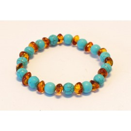 Amber & Rose Quartz Bracelet BQ29
