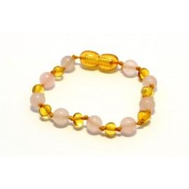 Amber and gemstones teething bracelet AG202