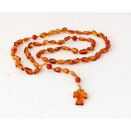 Amber rosary JR44