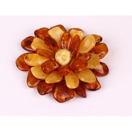 Amber Flower Brooch 39