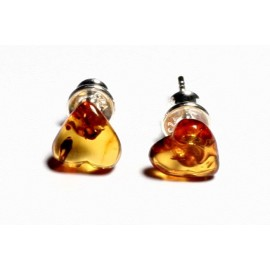 Amber silver earring s3w